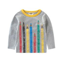 $enCountryForm.capitalKeyWord Australia - Children T-shirt Boys Clothes 2019 Brand Baby Boys Tops & Tees with Airplane Kids Long Sleeve Sweatshirt Boys T Shirts 5-6y