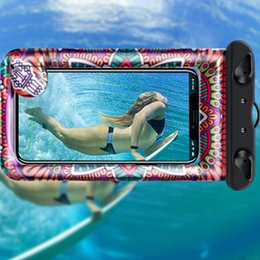 Discount inches phone case cover - Waterproof Phone Diving Case Cartoon Printed Sealed Pouch Dry Bag Cover Floating Gasbag Inflatable 6.1 Inch Hanging