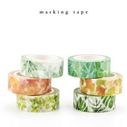 $enCountryForm.capitalKeyWord Australia - 2019 Cute Kawaii Plants Flowers Japanese Masking Washi Tape Decorative Adhesive Tape Decora Diy Scrapbooking Sticker Label Stationery 2016