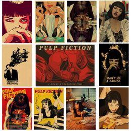 $enCountryForm.capitalKeyWord Australia - Pulp Fiction Poster, Vintage Paper Poster, Paper Wall Sticker, Kraft Decorative Painting, Classic Movie Wall Sticker