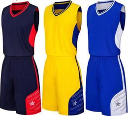 оптовые Настроенные мужчин Баскетбол Униформа, мужские наборы Костюмы спортивные костюмы, скидка Дешевые мальчика Баскетбол наборы топ с шортами на Распродаже