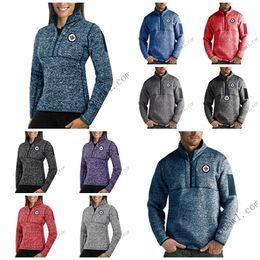 $enCountryForm.capitalKeyWord Australia - Winnipeg Jets Antigua Mens Womens Fortune Half-Zip Sweater Pullover Jackets- Heather Navy Charcoal Purple Grey Royal