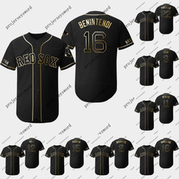 Boston jerseys online shopping - Boston Andrew Benintendi Golden Edition Jerseys Xander Bogaertsi Dustin Pedroia Mitch Moreland Red Sox Baseball Jerseys