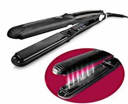Profesyonel Saç Salon Buhar Styler Saç Düzleştirici Ütüler Buhar Düz Demir Buhar Hızlı Isıtma Olmadan Saç Bakımı Şekillendirici Araçlar ... indirimde