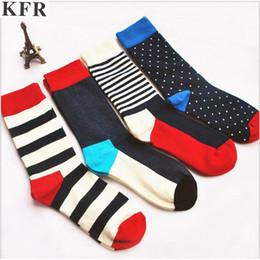 Funny Socks Fashion Australia - funny stripes men crew cotton socks of happy sock casual harajuku art short funny man socks brand skate long fashion funky
