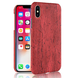 be47515b9fd Wood Grain PU Leather Phone Case For Iphone X XR XS MAX Hard PC Back Cover  For Iphone 6 7 8 Plus