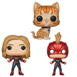 $enCountryForm.capitalKeyWord Australia - Funko pop Marvel The Avengers Captain Marvel Masked Chase Bobble head Goose The Cat Toy Action Figure with original box Great Quality