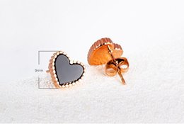 christmas gift nails Canada - J137 Christmas gifts brand new fashionable 316L stainless steel earing earings ear nail ear stud earbob rose gold jewelries 447