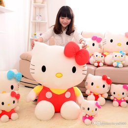 wholesale stuffed animal cat Australia - 2019 new arrival KT cat plush toy Stuffed Animals Hello Kitty dolls girl pillow toys Valentine gift wholesale