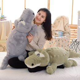 Crocodiles Alligator Toys Australia - Big crocodile plush toy doll rag doll girl bed sleeping pillow long strip alligator toy cute birthday gift