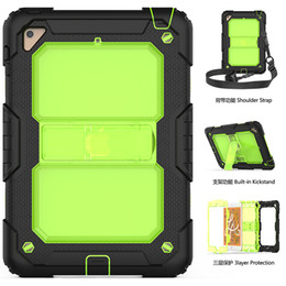 Wholesale Kids Safe Silicone PC Shockproof Hybrid Case with Shoulder Strap and Kickstand Function for Apple iPad Mini inch Tablet S
