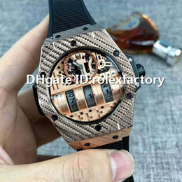 Luxury Display Cases Australia - New Luxury MP-11 Watch Power reserve Date Display Automatic Sapphire Crystal Rose Gold Carbon Fiber Case Rubber strap Mens Watch 45mm