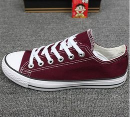 Burgundy Canvas Shoes Australia - NEW size35-46 New Unisex Low-Top Adult Women's Men's Canvas Shoes 13 colors sports stars chuck Laced Up Casual Sneaker shoes