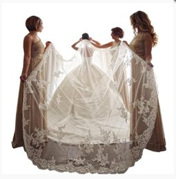 Chinese  2019 Designed Single Layer Bridal Veils Lace Appliques Amazing Wedding Veils Bridal Accessories Cheap Wedding Dresses Accessories Customized manufacturers