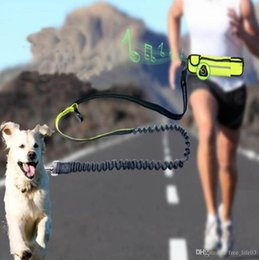 Multi Color Hand Bag Australia - Hands Free Elastic Dog Leash Adjustable Padded Waist Reflective Running Jogging Walking Pet Lead Belt With Pouch Bags