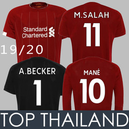 9649d2fcb 19 20 M.SALAH Soccer Jersey Long SLeeve 19 20 Champions Salah Goalkeeper Men  Women Kids FIRMINO MANE VIRGIL SHAQIRI Cup Football Shirts