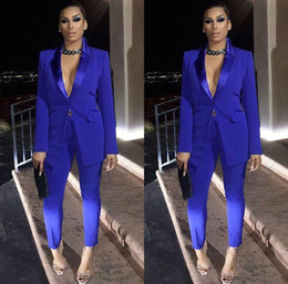 $enCountryForm.capitalKeyWord Australia - Royal Blue Mother of the Bride Dresses Ladies Party Suits Blazer Pant Formal Evening Dresses Office Work Sexy Tuxedos Mother Dresses Suits