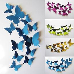 $enCountryForm.capitalKeyWord Australia - Metallic Sense 12 Pcs Lot 3D DIY Butterfly Wall Stickers Home Decor Poster for Kitchen Living Room Fridge Wall Decal Decoration