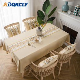 print tablecloths wholesale Australia - 1PC Polyester Anti-dust Tablecloth Pastoral Printed Design Wedding Birthday Party Table Cover Rectangle Desk Cloth Wipe Covers