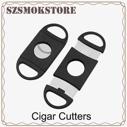 $enCountryForm.capitalKeyWord UK - Pocket Plastic Stainless Steel Double Blades Cigar Cutter Knife Scissors Tobacco Black New #2780 0266233