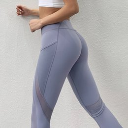 leggings sport push up Canada - SALSPOR Seamless Gym Leggings Women Mesh Patchwork Pocket Sport Leggings High Waist Push Up Yoga Pants Fitness Clothing Femme