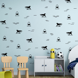 $enCountryForm.capitalKeyWord NZ - DIY Creative Animal Shark Wall Sticker Mural Wallpaper Waterproof Removable Art Furniture Cabinets Vinyl Decal Living Room Home Decorative