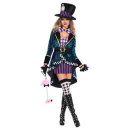 circus clothes Australia - High Quality Women Magician Halloween Birthday Party Role-play Costumes Circus Carnival Fancy Cosplay Clothing for Female