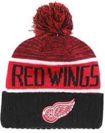 cee5a2e0e38 DETROID WINGS Beanie Sideline Cold Weather Graphite Official Revers Sport  Knit Hat All Teams winter Warm Knitted Wool Skull Cap 00
