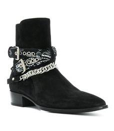 Toptan satış Sıcak satış-2018 Yeni Varış Siyah Kahverengi Inek Süet En Kaliteli Erkek Botları Ayak Bileği Botas Zincirleri Ayak Bileği Bukles Düşük Topuk Ayakkabı Mens