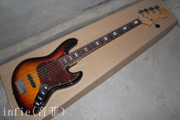 $enCountryForm.capitalKeyWord Australia - Free Shipping High Quality F Jazz Bass 5 String Sunburst Rosewood Fingerboard Active Pickups 9V Battery electric Bass Guitar In Stock