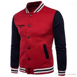 Wholesale couples baseball cardigan for sale – custom Hooded Sweatshirts Casual Single Breasted Male Clothes Baseball Winter Men Hoodies Thick Cardigan Stand Collar Couples