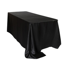 $enCountryForm.capitalKeyWord UK - ome Textile Table Cloth 5pcs  Pack 57 x 126 inch Rectangular Satin Tablecloth White Black Table Cover for Wedding Party Restaurant Banque...