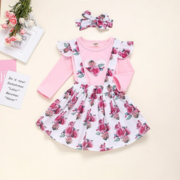 girls winter shirts for kids NZ - Vieeoease Christmas Baby Girls sets Long Sleeve T-shirt + Floral Tutu Skirts Kids Clothing for 2019 Autumn Winter CC-609