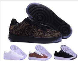 nike air force 1 one flyknit Moda Uomo Scarpe Low One 1 Uomo Donna Cina Casual Scarpe Fly Designer Royaums Tipo Breathe Skate knit Femme Homme 36 45