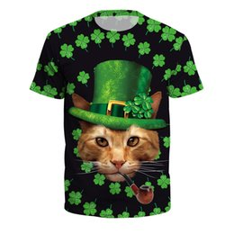 $enCountryForm.capitalKeyWord UK - St.Patrick's Day Short Sleeve Shirt Goose Chewie Cat Casual Fashion Man Clothing T-shirts Tops L458B-01