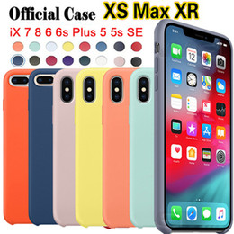original case apple for iphone NZ - Have LOGO Original Official Silicone Case For Apple iPhone XS MAX XR X 7 8 6 6S Plus Cases For Samsung S10 PLUS S10E Case Cover