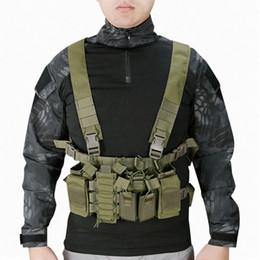 tactical carrier vest 2019 - Tactical Vest Easy Chest Rig Carrier Vest MultiCam Molle System Sling Combat Harness discount tactical carrier vest