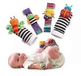 baby rattle toys lamaze UK - 2019 New Arrival SOZZY Wrist Rattle & Foot Finder Baby Toys Baby Rattle Socks Lamaze Plush Wrist Rattle+Foot Baby Socks 1000pcs Free Ship