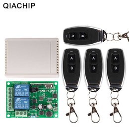 Universal Ac Remote Control Australia - Qiachip 433mhz Universal Wireless Remote Control Switch Ac 250v 110v 220v Relay Receiver Module + 4pcs Rf 433 Mhz Remote Control J190523