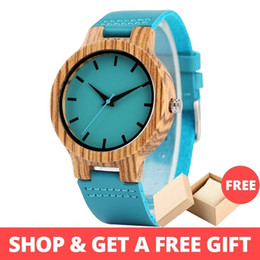 $enCountryForm.capitalKeyWord Australia - Lovers' Watches Women Wooden Men Watch Unique Timepieces In Gift Box Turquoise Blue Leather Valentine's Day Gifts Drop Shipping Y19062004
