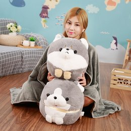 toy doll blankets Australia - Multifunction Plush Shiba lnu+Blanket Stuffed Animal Baby Dolls Kawaii Cartoon Kids Present Toys Children Baby Birthday Gift
