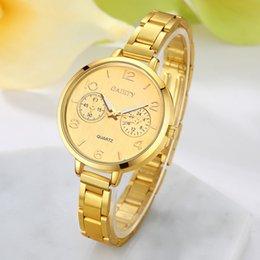 Wrist Watch Glass Chain Australia - Women Fashion Chain Analog Quartz Round Wrist Watch Watches Women Watches Bracelet Watch Ladied #4a25