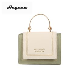 green handbags Australia - Chain Versatile Messenger Bag Patchwork color Retro Casual chain Shoulder handBag Fashion green Small Square Bags for Women