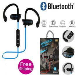 $enCountryForm.capitalKeyWord Australia - RT558 Bluetooth Headphones Neckband Wireless Earbuds Bluetooth 4.2 EDR hiking Jogging Sports Earphone with Hook Mic music headset for iphone