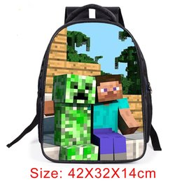 34d72d86c6 Minecraft Backpack 2018 Hot Primary Student School Bags For Boys Girls  Cartoon Kids Backpack Daily Children SchoolBag  43228