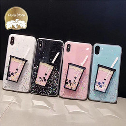 Green 3d case online shopping - New Fashion D Cartoon Soft Silicone Phone Case Bubble Tea Rubber TPU Phone Shell for iPhone Apple PLUS XR X MAX