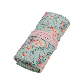 $enCountryForm.capitalKeyWord NZ - Handmade Canvas Countryside Style Colored Pencils Wrap, Roll Up Pen Holder Case Cute and Multi-Purpose (No Pencil Included)