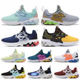 shoes mens presto Australia - Women Mens Running Shoes Beams X React Presto Dharma Witness Protection Barely Volt Rabid Panda Triple Black Reacts Shoes Trainers Sneakers