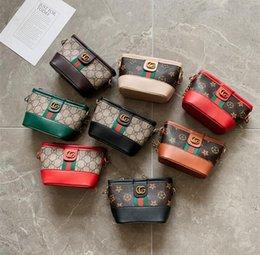 Опт Дети девушка старинные печати старинные цветочные сумки девочка мода полосатый цепь сумка синглет плечо крест сумка
