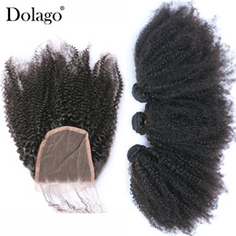 $enCountryForm.capitalKeyWord Australia - Afro Kinky Curly Hair With Closure 4 Pcs Mongolian 3 Human Hair Weave Bundles With Closure Remy Dolago